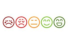 Le smiley fait face ? des ic?nes d'estimation E illustration de vecteur