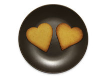 Le smiley sous forme de plats avec des biscuits, d'isolement sur le fond blanc illustration stock