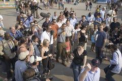 Le sénateur Barak Obama faisant campagne pour le président Images stock