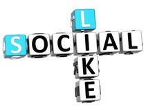 le Social 3D aiment des mots croisé Image stock