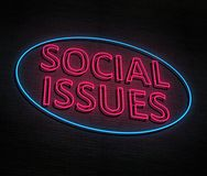 Le Social publie le concept Illustration Stock