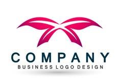 Le soin coloré de mode de vie de station thermale de beauté de papillon détendent l'icône de logo d'ailes d'abrégé sur yoga sur l illustration stock