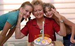 Le soixante-sixième anniversaire de la grand-maman Photographie stock