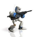 Le soldat de robot a installé un fusil illustration stock