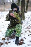 Le soldat. Le tireur isolé. Images libres de droits