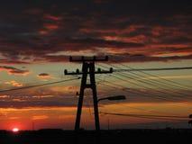 Le soleil électrique Images libres de droits