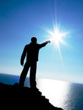 le soleil à toucher Photographie stock