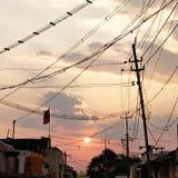 Le soleil électrique images stock