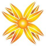 Le soleil abstrait illustration de vecteur