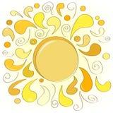 Le soleil abstrait Photographie stock