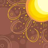 Le soleil abstrait Photographie stock libre de droits