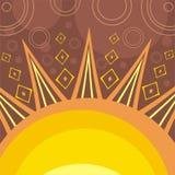 Le soleil abstrait Photos stock