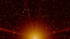 Le soleil abstrait avec des particules banque de vidéos