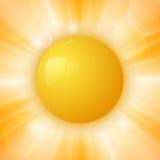 Le soleil abstrait d'été Photo stock