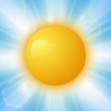 Le soleil abstrait d'été Photo libre de droits