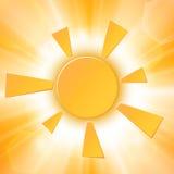 Le soleil abstrait d'été Images libres de droits