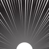 Le soleil blanc sur un fond noir illustration libre de droits