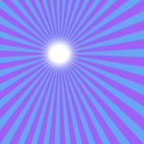 Le soleil bleu Photo libre de droits
