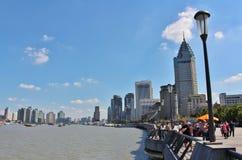 Le soleil brille au-dessus de Changhaï photo libre de droits