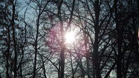 Le soleil caché Image libre de droits