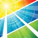 Le soleil chaud d'été Image libre de droits