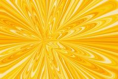 Le soleil courbé par soleil rayonne des milieux Images stock