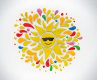 Le soleil décoratif image stock