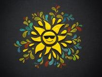 Le soleil décoratif de pâte à modeler illustration stock