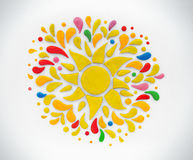 Le soleil décoratif de pâte à modeler illustration de vecteur