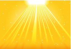 le soleil d'éclat illustration stock