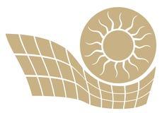 Le soleil d'énergie Image stock