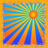 Le soleil d'été illustration stock
