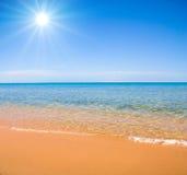 le soleil d'été image stock