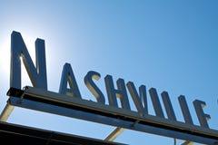 Le soleil d'angle du signe 3D de Nashville Images stock