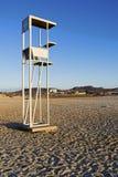 Le soleil d'après-midi de plage de station de maître nageur Photographie stock libre de droits
