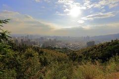 Le soleil d'après-midi sur la colline dapingshan Image stock