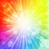Le soleil d'arc-en-ciel Photo libre de droits