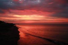 Le soleil d'aube Image libre de droits