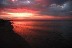 Le soleil d'aube Photo libre de droits