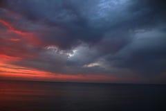 Le soleil d'aube Photographie stock
