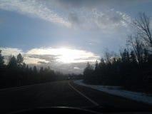 Le soleil d'Evning photos libres de droits