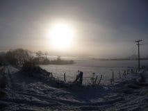 Le soleil d'hiver dans le Sussex images stock