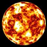 le soleil d'isolement flamber Photographie stock libre de droits
