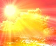 le soleil de 01 cieux Photos libres de droits