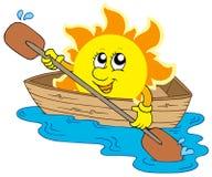 le soleil de bateau Images libres de droits