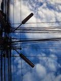 le soleil de bleu de ciel Image libre de droits