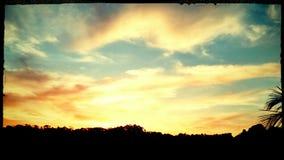 Le soleil de bonne nuit photos stock