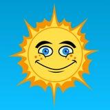 le soleil de dessin animé Photographie stock libre de droits