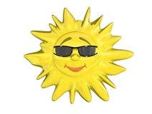 le soleil de dessin animé Image stock