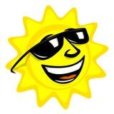 le soleil de dessin animé Images libres de droits